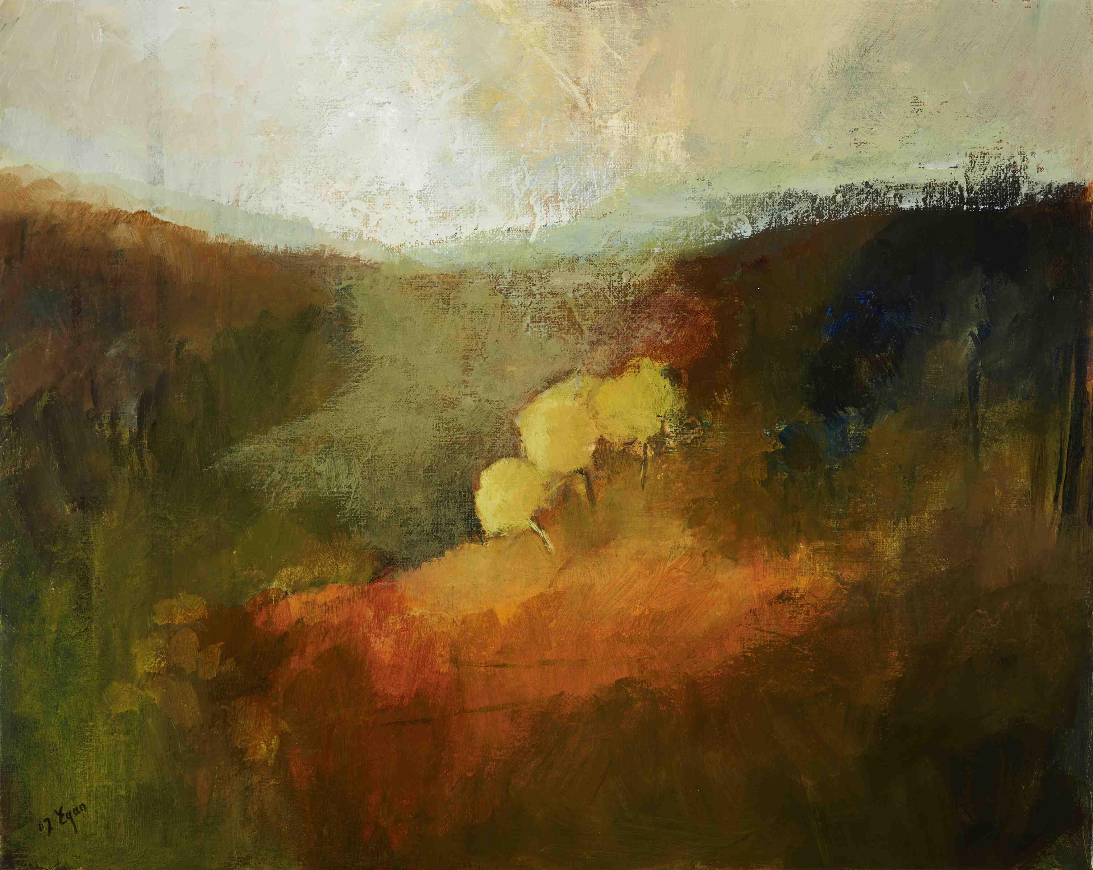 Margaret Egan, Wicklow Hills, 39 x 49 cm, acrylic on linen