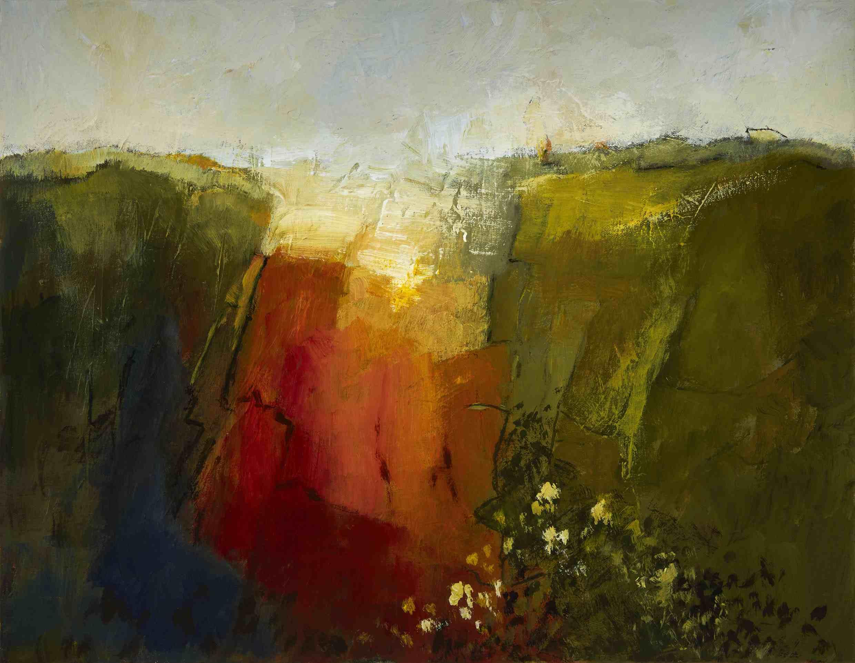 Margaret Egan, Sketch for Loop Head II, acrylic on linen, 100 x 110 cm