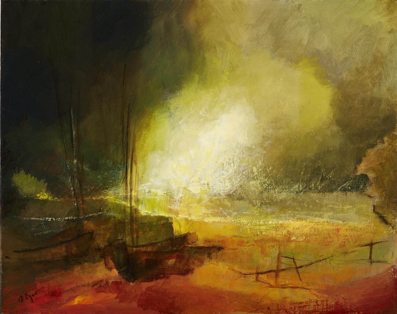 Margaret Egan, Roundstone II, acrylic on linen, 40 x 50cm