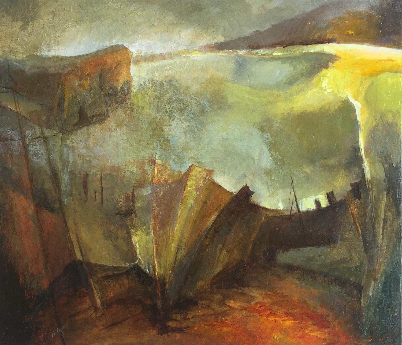 Margaret Egan, Roundstone, acrylic on linen, 66x76.5cm