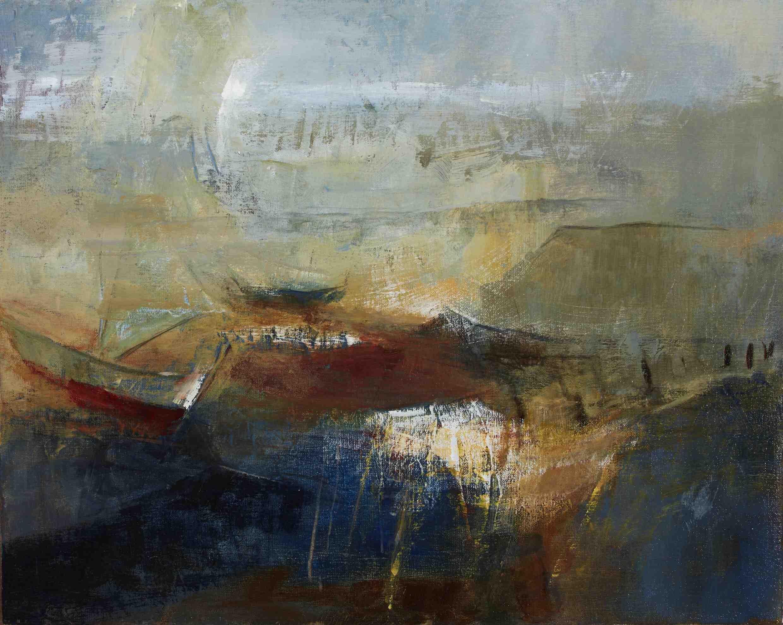 Margaret Egan, Roundstone III, 39 x 49 cm, acrylic on linen