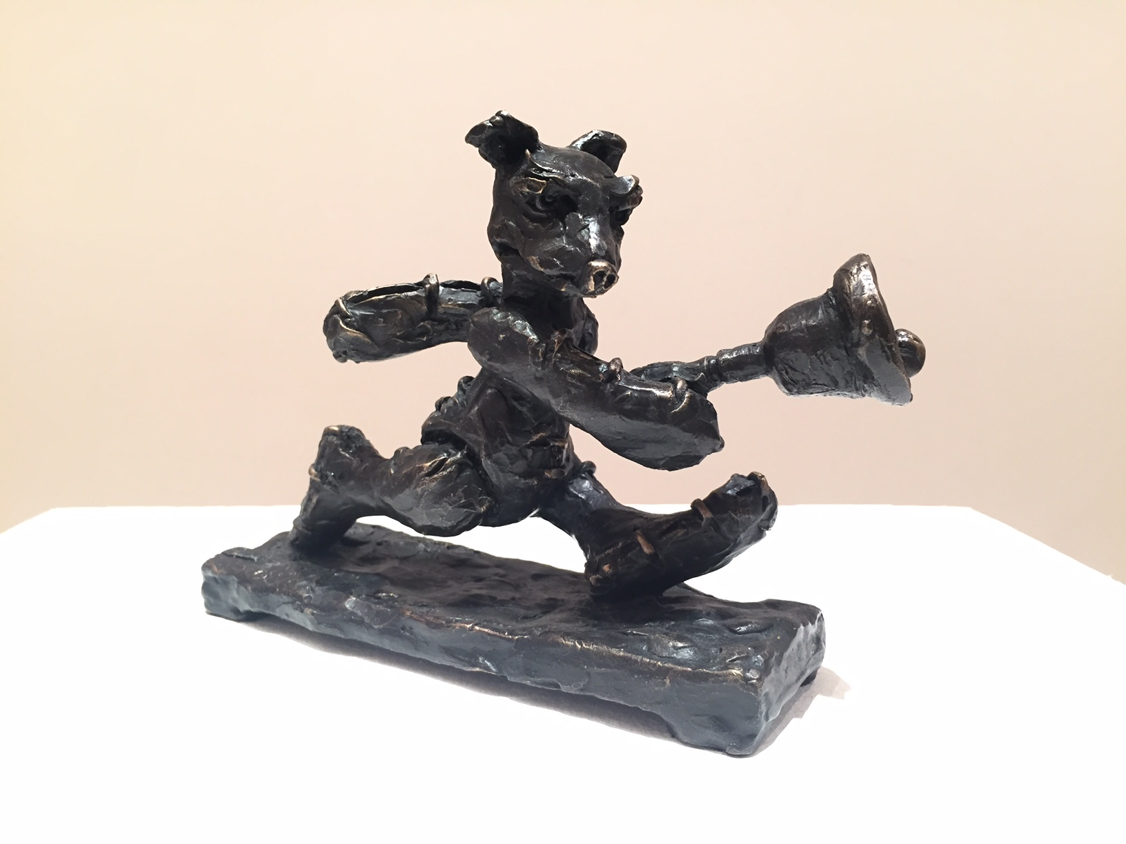 Patrick O'Reilly, Customised Little Bear (Bell), bronze, 13 x 16 x 5cm
