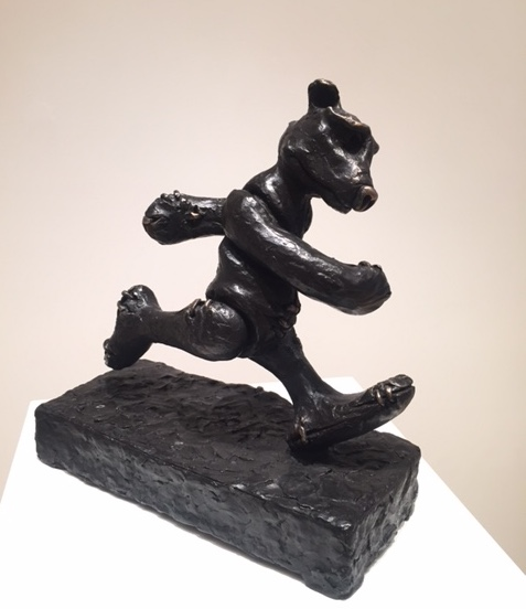 Patrick O'Reilly, Marching On, bronze, 35.5 x 33 x 15 cm