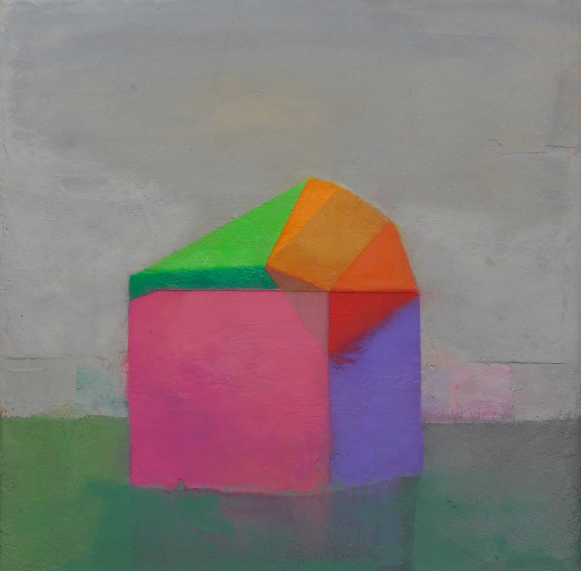 Tom Climent, Inverter, oil and plaster on canvas, 25x25cm